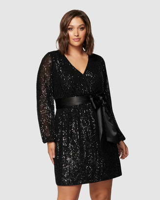 Forever New Curve - Women's Mini Dresses - Frieda Curve Sequin Mini Dress - Size One Size, 16 at The Iconic
