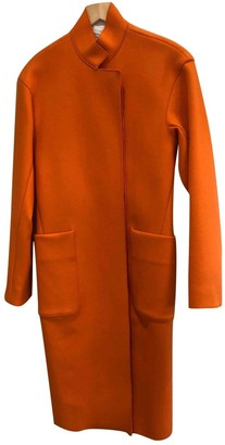 Victoria Beckham Orange Wool Coats