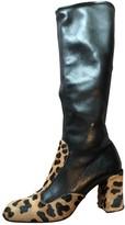 Prada Black Pony-style calfskin Boots