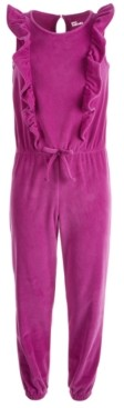 Epic Threads Big Girls Ruffled Velour Jumpsuit, Created for Macy's