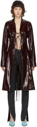 Supriya Lele Burgundy Vinyl Bra Coat