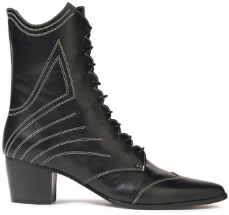 Tabitha Simmons Swing Lace-up Leather Ankle Boots