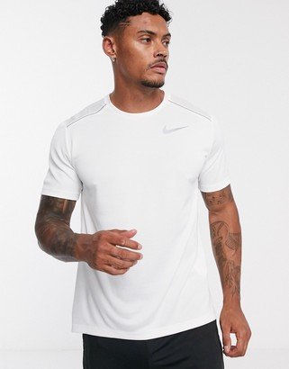 Nike Running Miler t-shirt in white