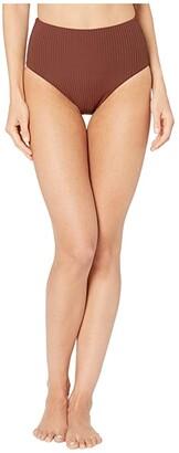 Vitamin A Swimwear Barcelona Bottoms Full (Vintage Brown EcoRib) Women's Swimwear