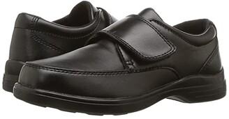 Hush Puppies Kids Gavin (Little Kid/Big Kid) (Black Leather) Boy's Shoes