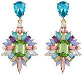 Natasha Accessories Colorful Crystal Cluster Drop Earrings