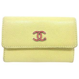 Chanel Yellow Leather Purses, wallets & cases