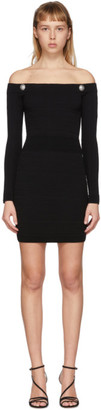 Balmain Black Knit Bustier Dress