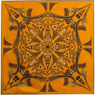 Gisy Vietnam Mandala Earth Neckerchief Silk Scarf