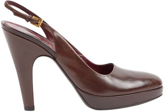 Prada Burgundy Leather Heels