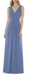 Social Bridesmaids V-Neck Georgette A-Line Gown