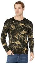 John Varvatos Phoenix Long Sleeve Mercerized Cotton with Intergalactic Print Y1989V4B (Black) Men's Clothing