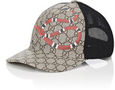 Gucci Men's Snake & Logo-Print Trucker Hat-BEIGE, TAN