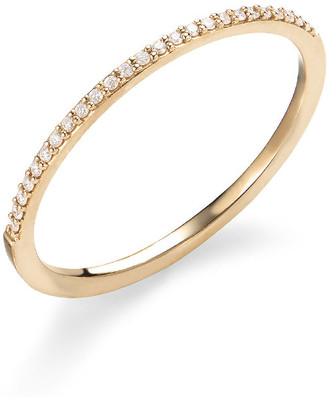 Lana 14k Gold Thin Flawless Diamond Stack Ring