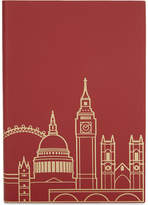 London Undercover London skyline recycled leather A5 notebook