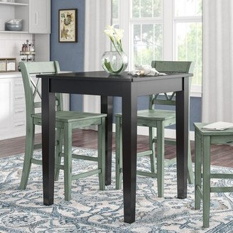Three Posts Haslingden Counter Height Dining Table Color: Black