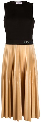 Givenchy Pleated-Skirt Logo-Waist Dress