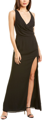 Fame & Partners Thigh High Split Gown