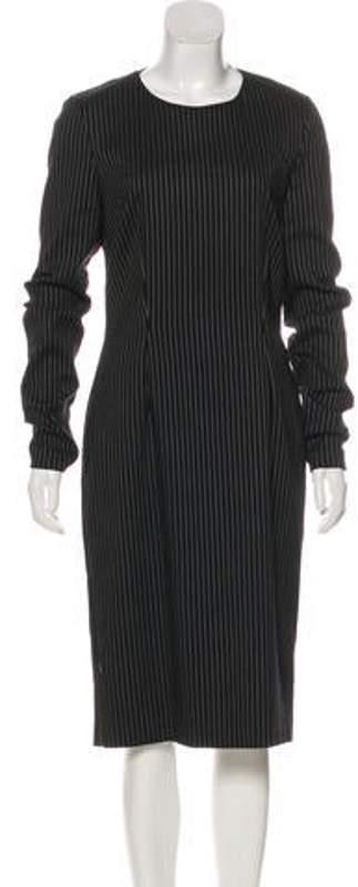 Stella McCartney Striped Sheath Dress Black Striped Sheath Dress