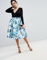 Forever Unique Floral Prom Skirt
