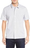 John W. Nordstrom Regular Fit Paisley Print Camp Shirt (Regular & Tall)