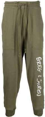 Greg Lauren drop-crotch track pants
