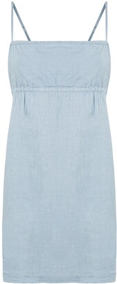 Venroy Linen Back-Tie Mini Dress