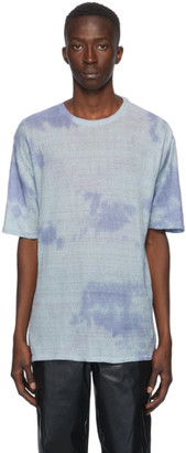 Our Legacy Blue Sheer Linen Box T-Shirt