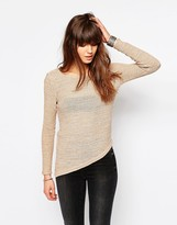 Only Sweater With Asymmetric Hem