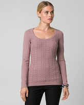 Le Château Textured Viscose Blend Scoop Neck Sweater