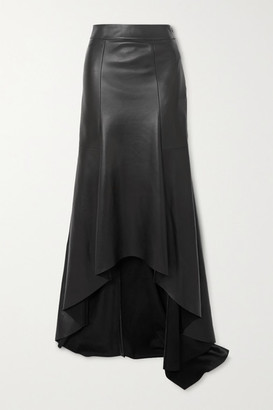 Akris Asymmetric Leather Skirt - Black