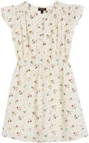 Velveteen Julieta Floral Cap-Sleeve Dress, Size 8-12