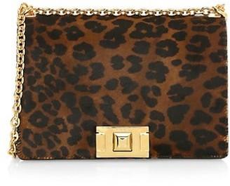 Furla Small Mimi Leopard-Print Suede & Leather Crossbody Bag