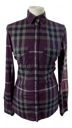 Burberry Purple Cotton Tops