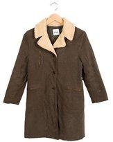 Moschino Girls' Notch-Lapel Knee-Length Coat
