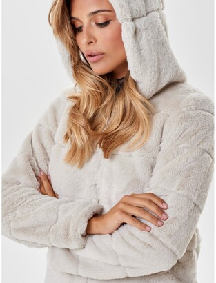 Only Faux Fur Hooded Jacket