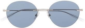 Montblanc Tinted Round Frame Sunglasses
