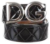 Dolce & Gabbana Logo Quilted Belt