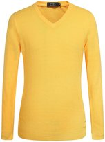 SSLR Men's Candy Color V Neck Classic Pullover Sweater
