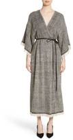 ADAM by Adam Lippes Women's Fringe Trim Twill Woven Dress
