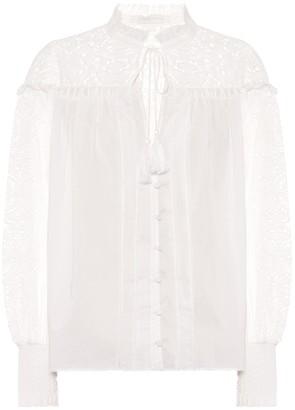 Jonathan Simkhai Brianne cotton blouse