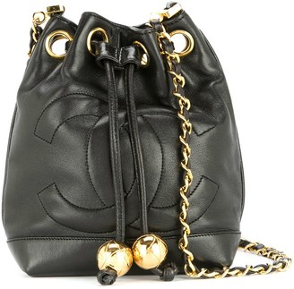 Chanel Pre-Owned 1994-1996 drawstring chain mini shoulder bag