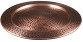 Southern Living Modern Metals Collection Antique Hammered Copper Charger