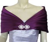 Dobelove Women's Satin Wedding Formal Party Wrap Shrug Shawl (OneSize, )