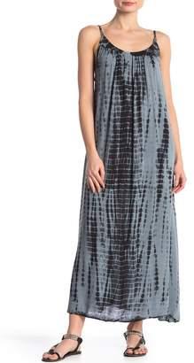BOHO ME Cross Back Strap Tie-Dye Maxi Dress