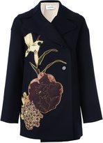 Valentino 'Kimono 1997' peacoat - women - Silk/Polyester/Virgin Wool - 42