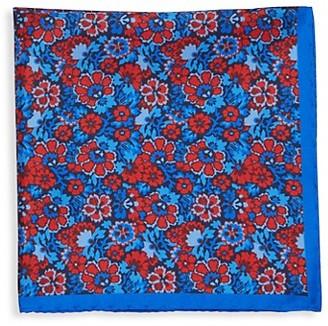 Saks Fifth Avenue Made In Italy Floral Paisley Silk Pocket Square