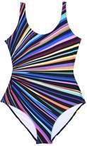 Swimwear Plus Size, iBaste Women's Colorful Rainbow Printed Swimwear One Piece