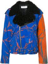 Marques Almeida Marques'almeida printed biker jacket
