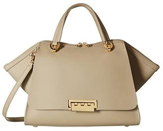 ZAC Zac Posen Eartha Iconic Jumbo Double Handle (Beige) Satchel Handbags